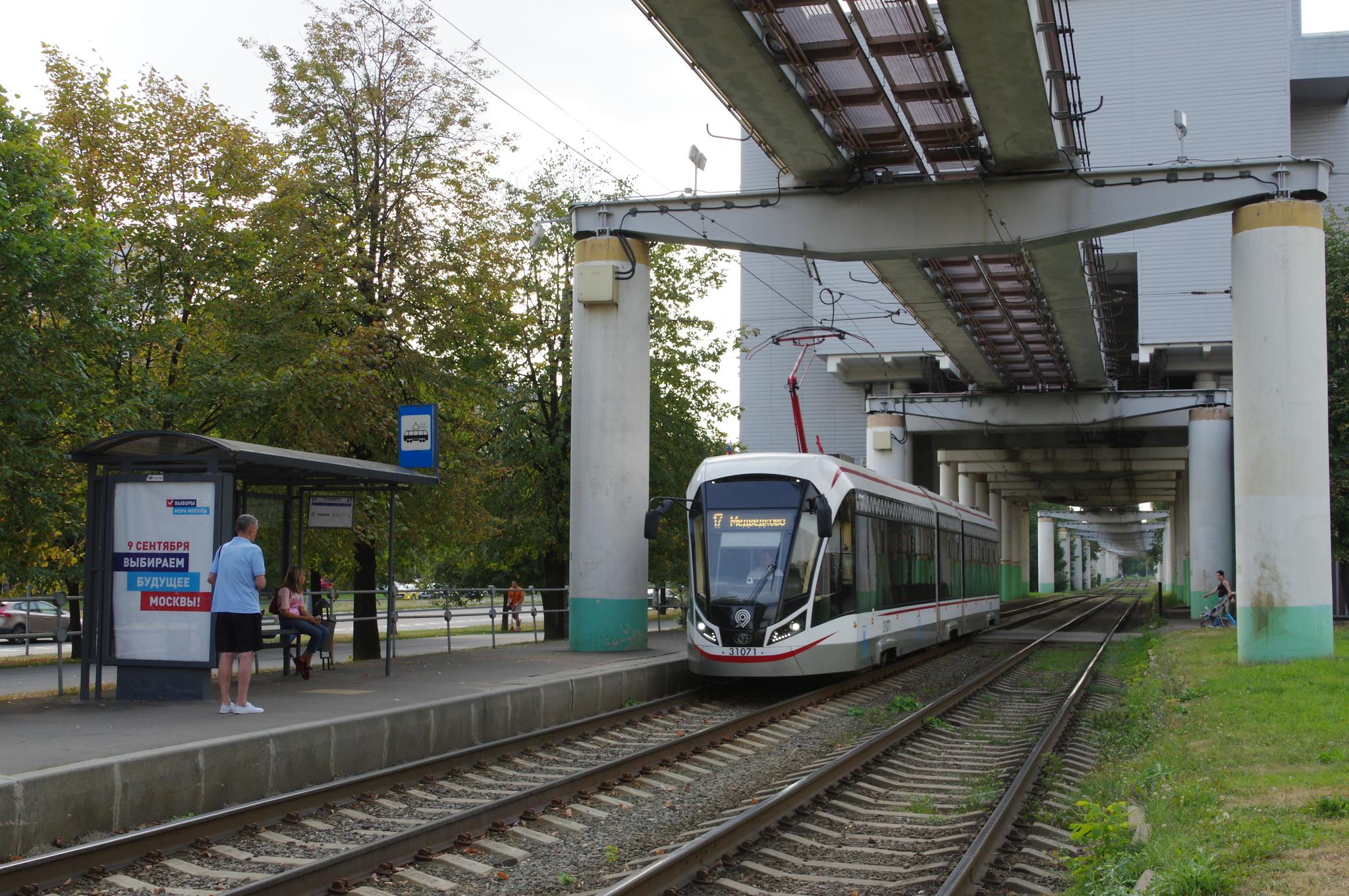 Трёхсекционный трамвай 71-931М «Витязь-М» № 31071