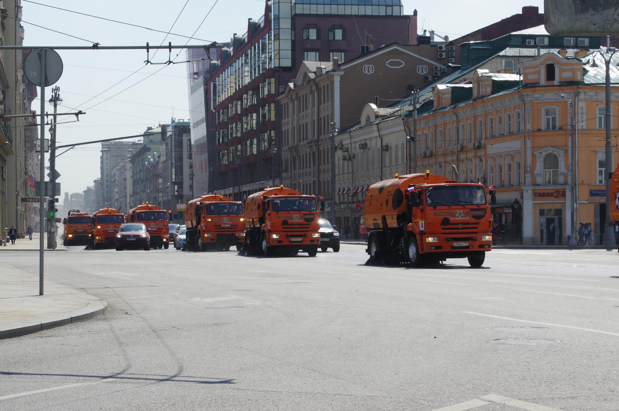 Коммунальная техника для обеспечения чистоты городских улиц