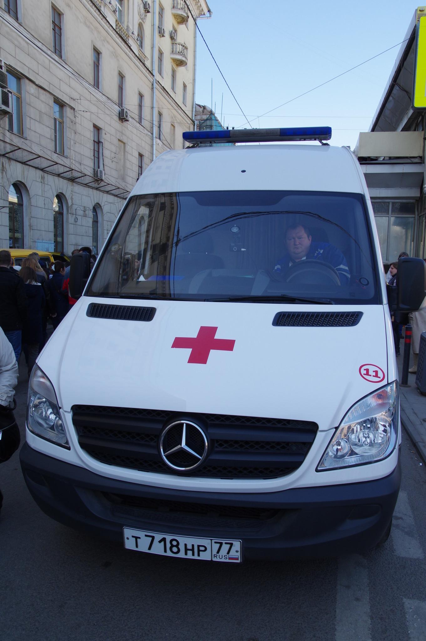 Автомобиль скорой медицинской помощи на Чистопрудном бульваре