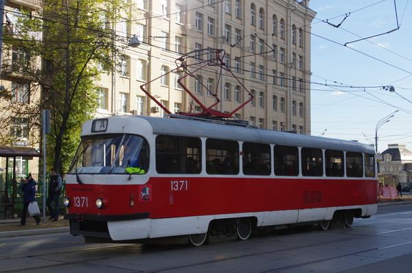 Трамвай «А» («Аннушка») на Новокузнецкой улице