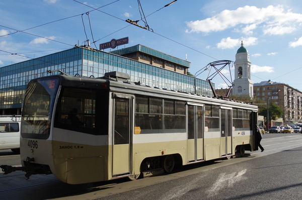 Трамвай № 35 в Москве