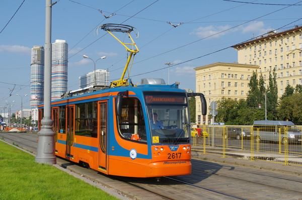Трамвай 71-623-02 (КТМ-23) № 2617, маршрут 17. Москва