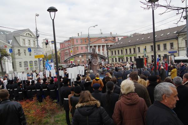 Церемония открытия памятника 7-й Бауманской дивизии народного ополчения