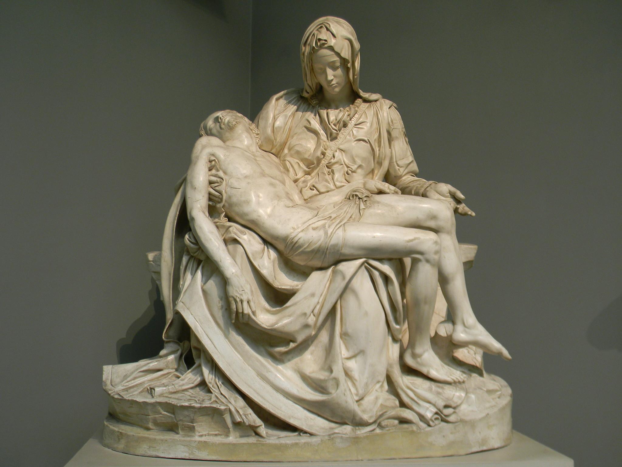 «Оплакивание Христа. Пьета». Микеланджело Буонарроти. Слепок. Подлинник - мрамор. Собор св. Петра, Рим, Италия