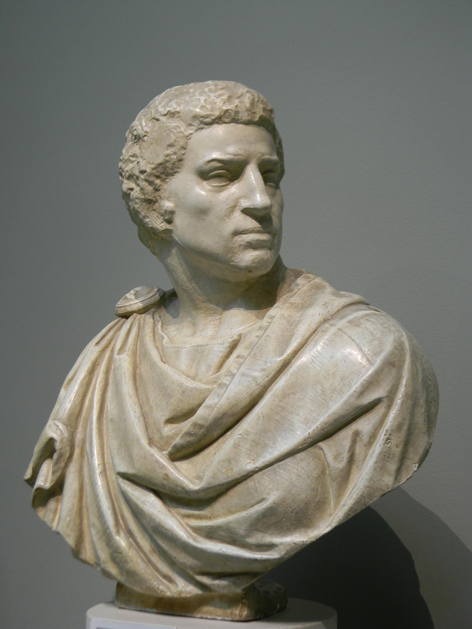 «Брут». Микеланджело Буонарроти. Слепок. Подлинник - мрамор. Национальный музей, Флоренция, Италия