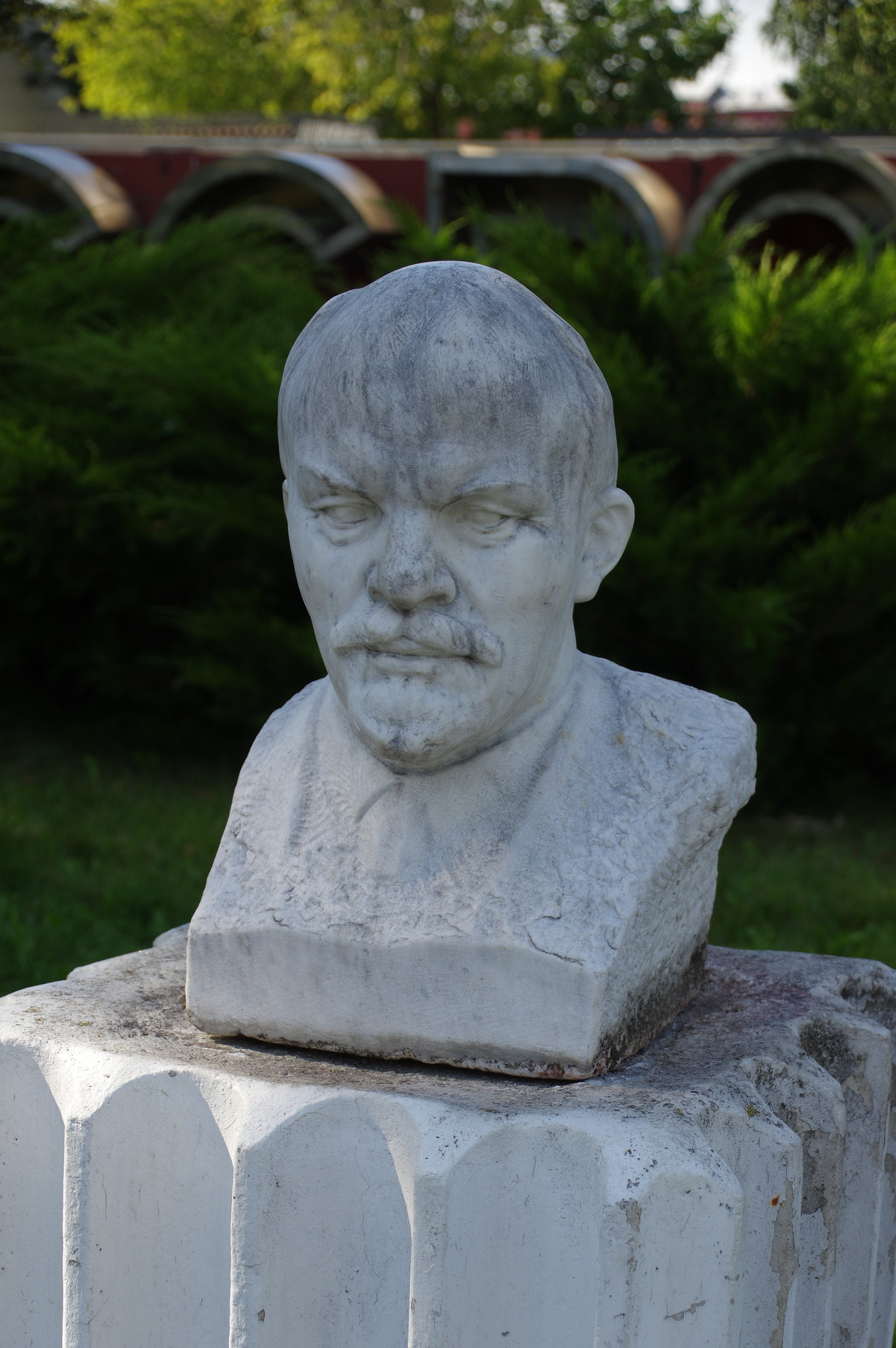 Портрет В.И. Ленина. Виленский З.М. 1982 г. Мрамор. Парк искусств «Музеон»
