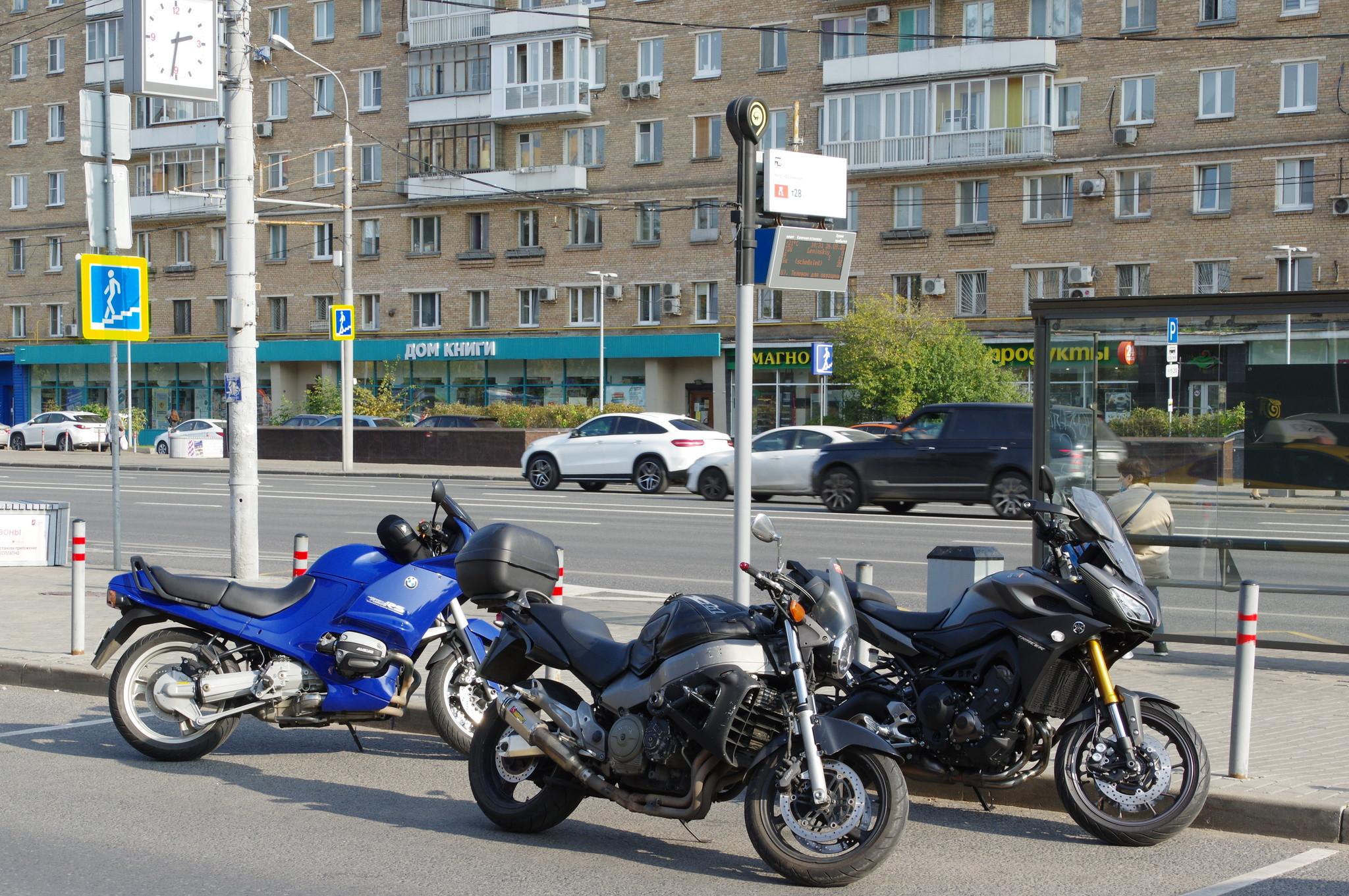 Мотоциклы на Комсомольском проспекте