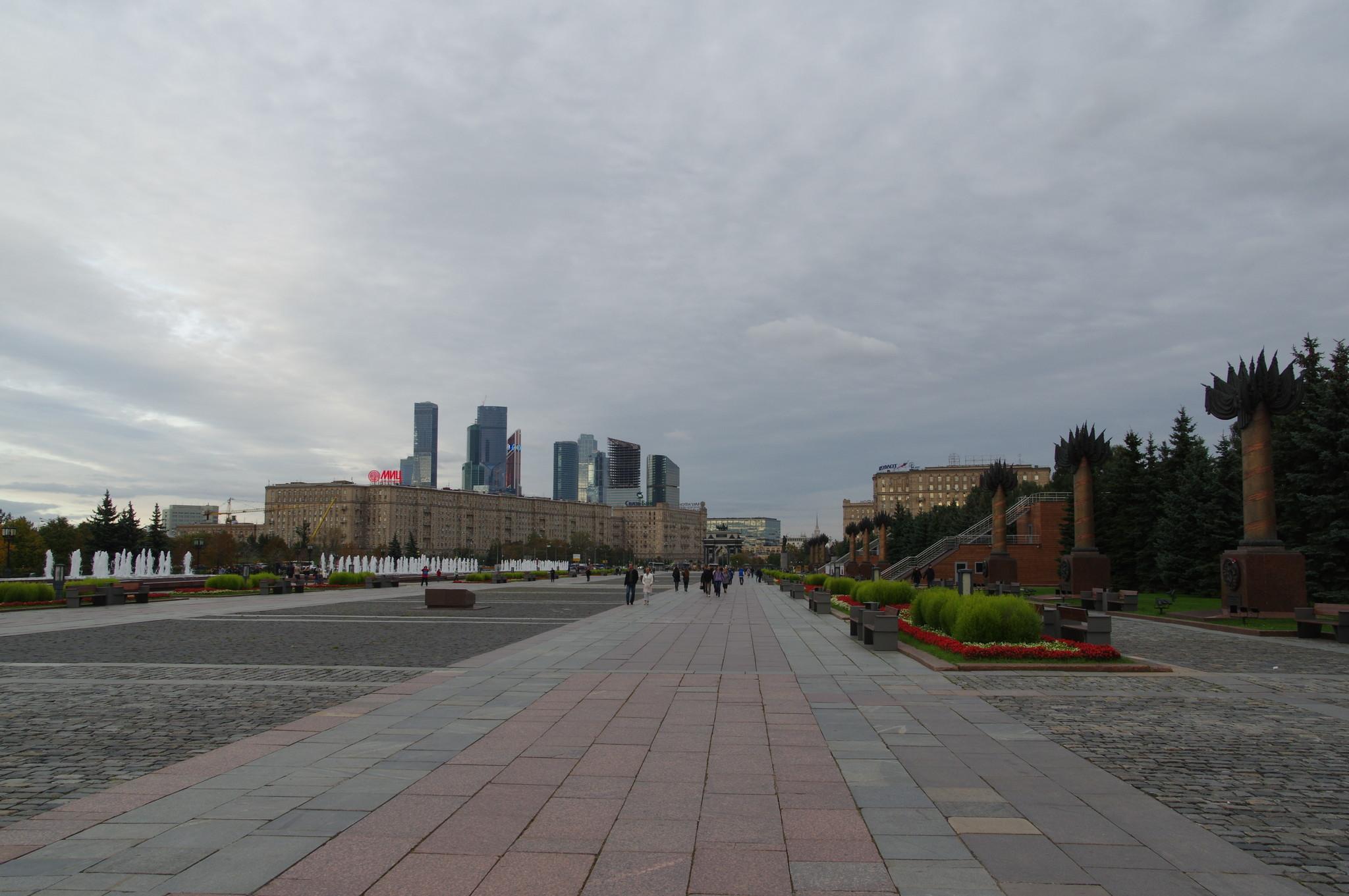 Фонтан на Главной аллее парка Победы