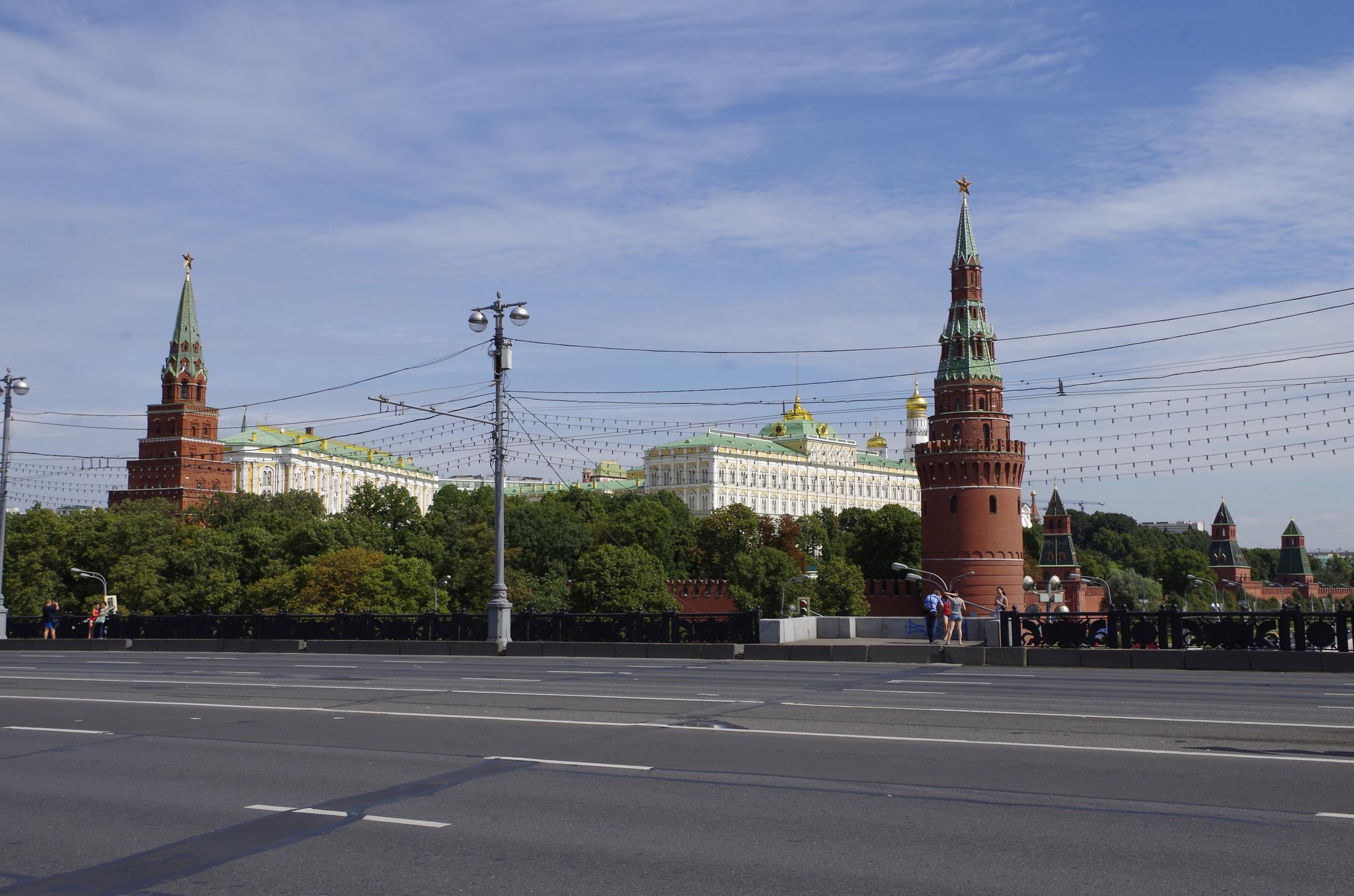 Вид на Московский Кремль с Большого Каменного моста