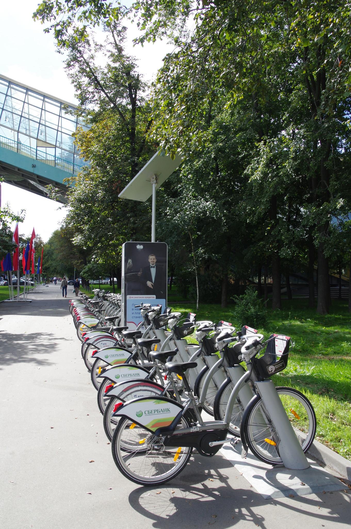 Велобайк на Фрунзенской набережной