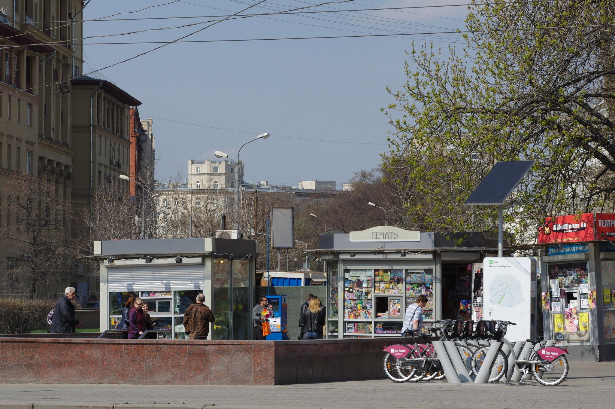 Велобайк на Никитском бульваре