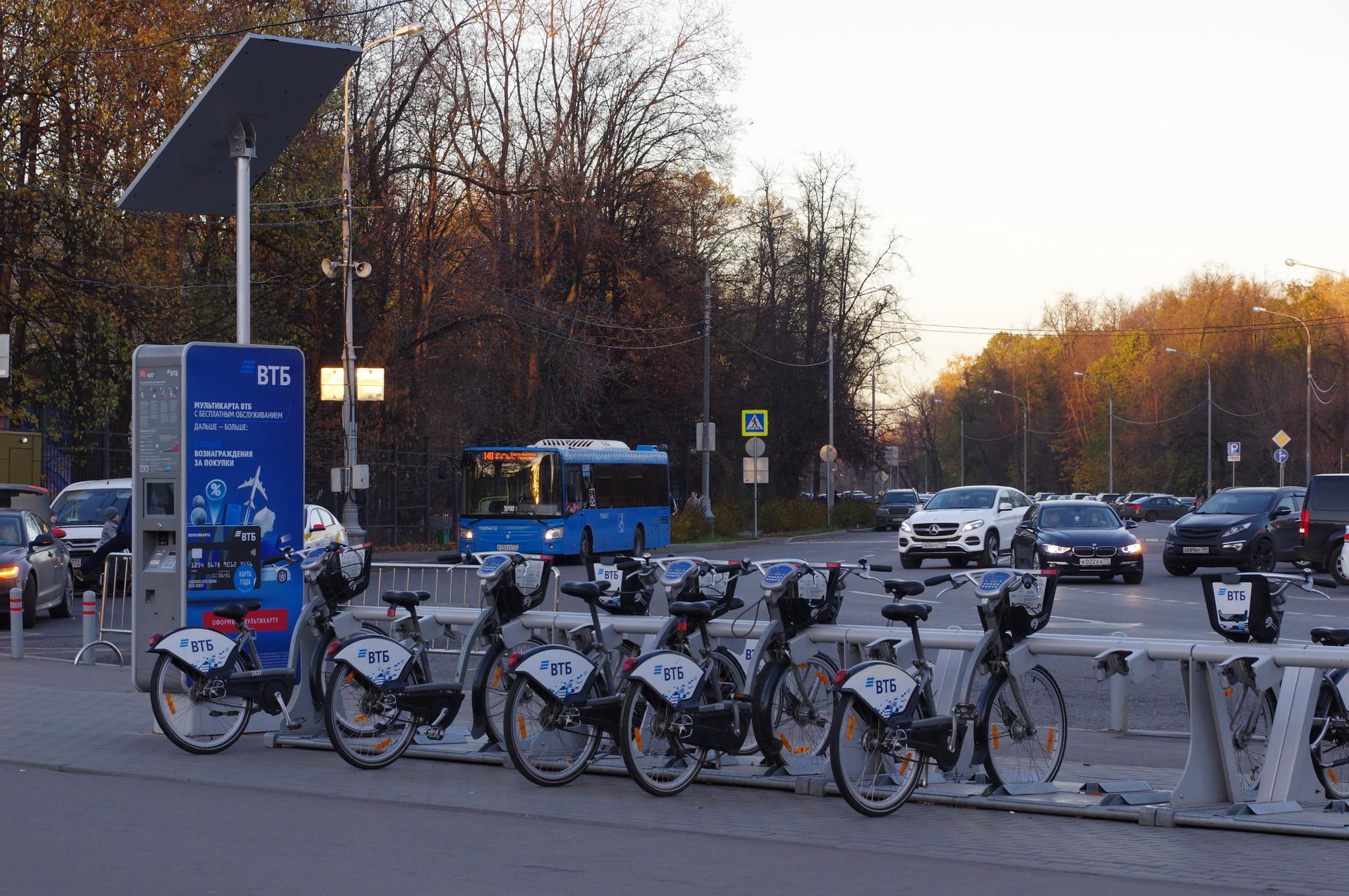 Станция велопроката № 487 (Сокольническая площадь, дом 7)