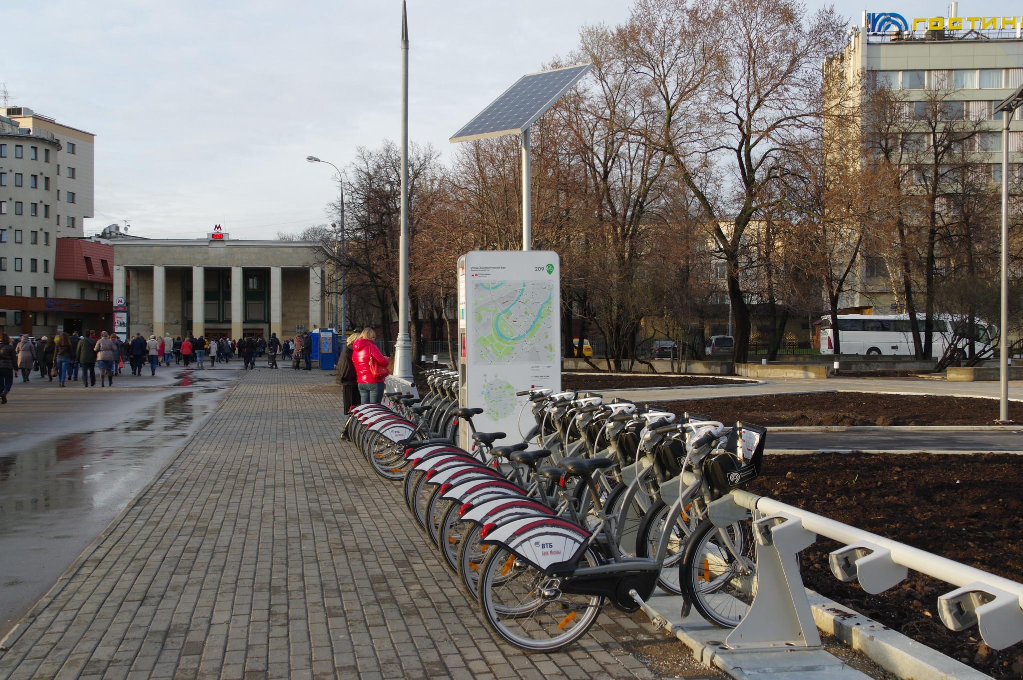 Станция велопроката № 209 (улица Хамовнический Вал)
