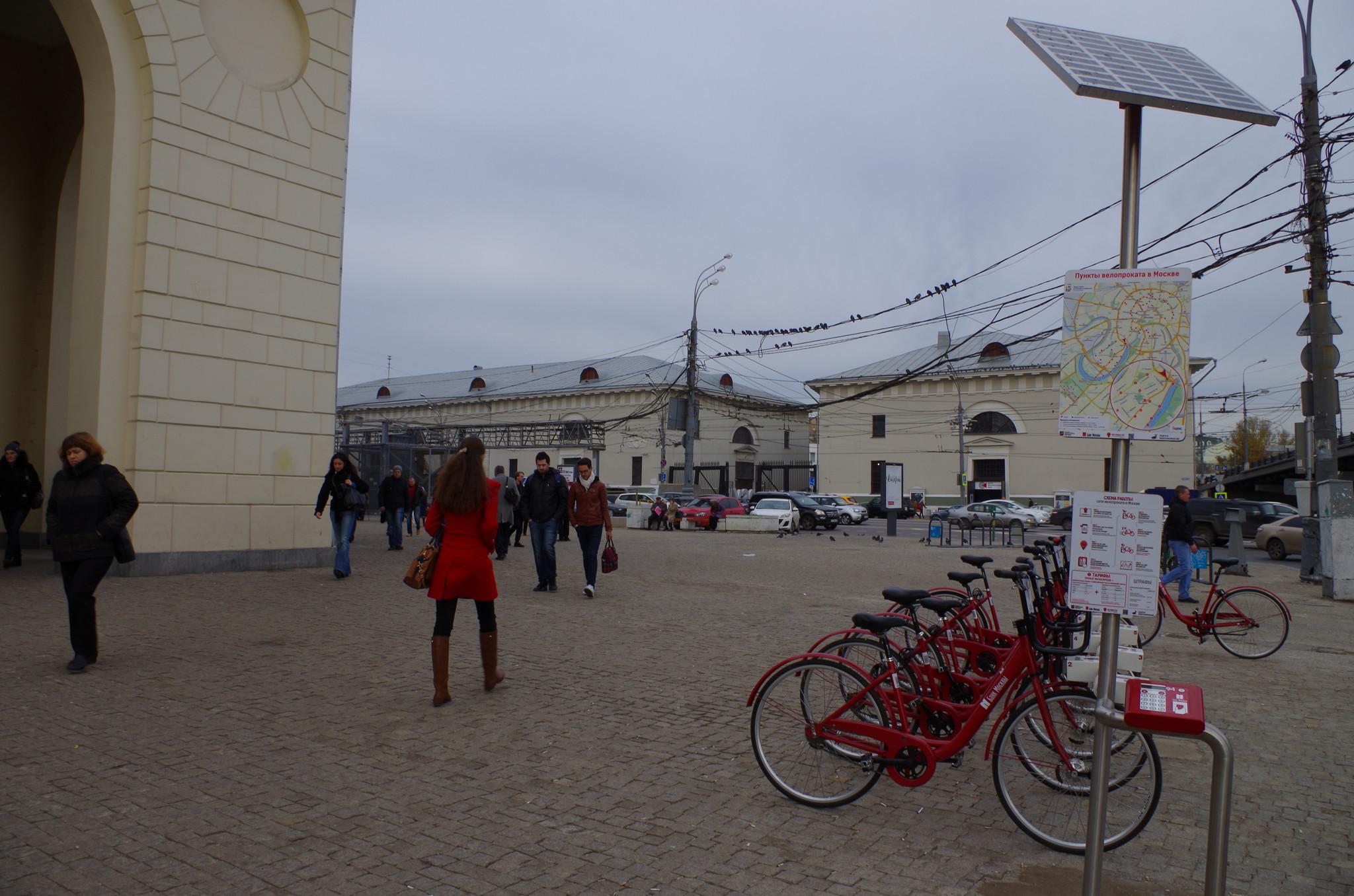 Станция велопроката у станции метро «Парк Культуры»