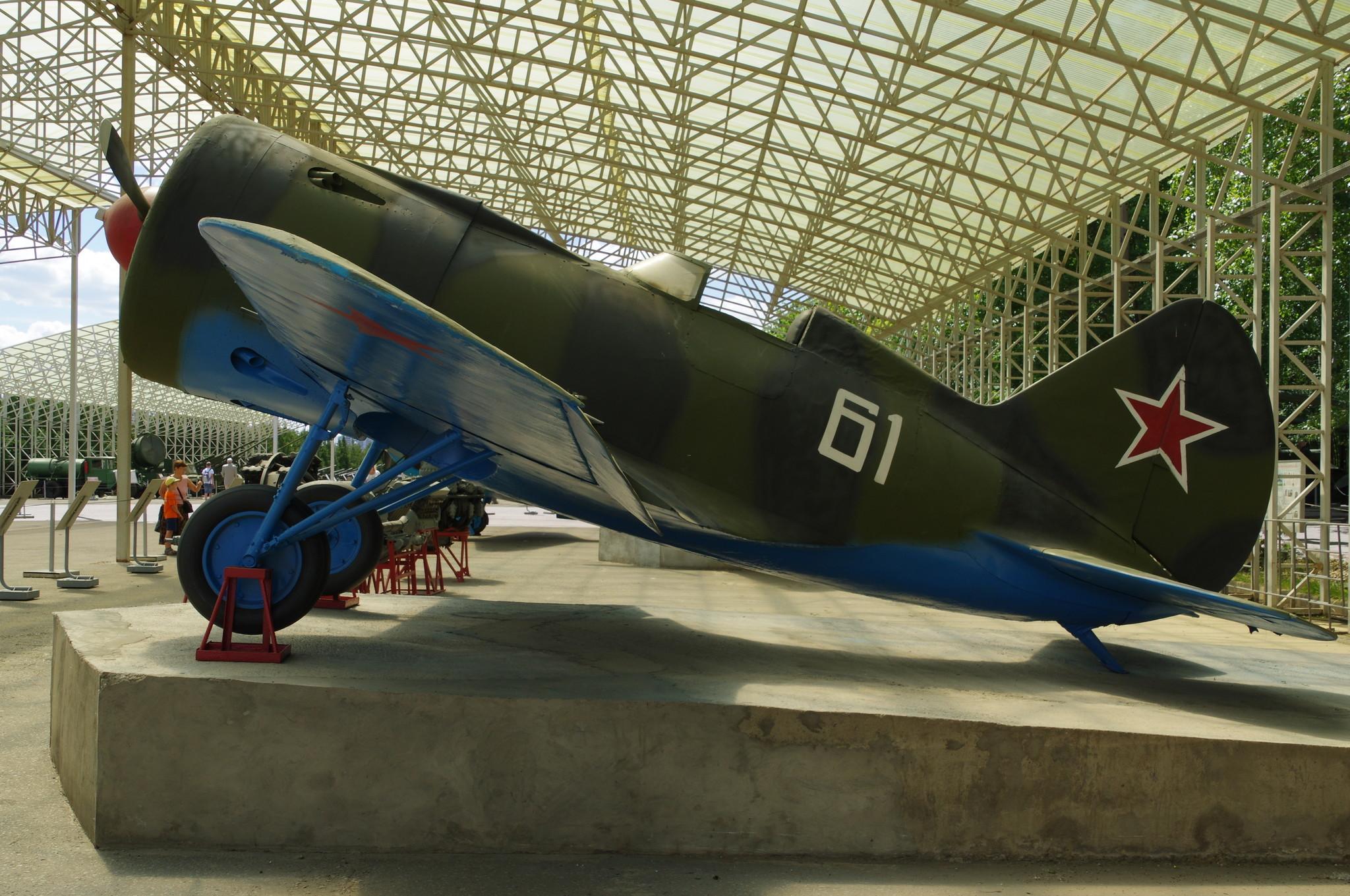 Полноразмерная копия истребителя И-16 тип 10 в экспозиции Центрального музея Великой Отечественной войны 1941-1945 гг.