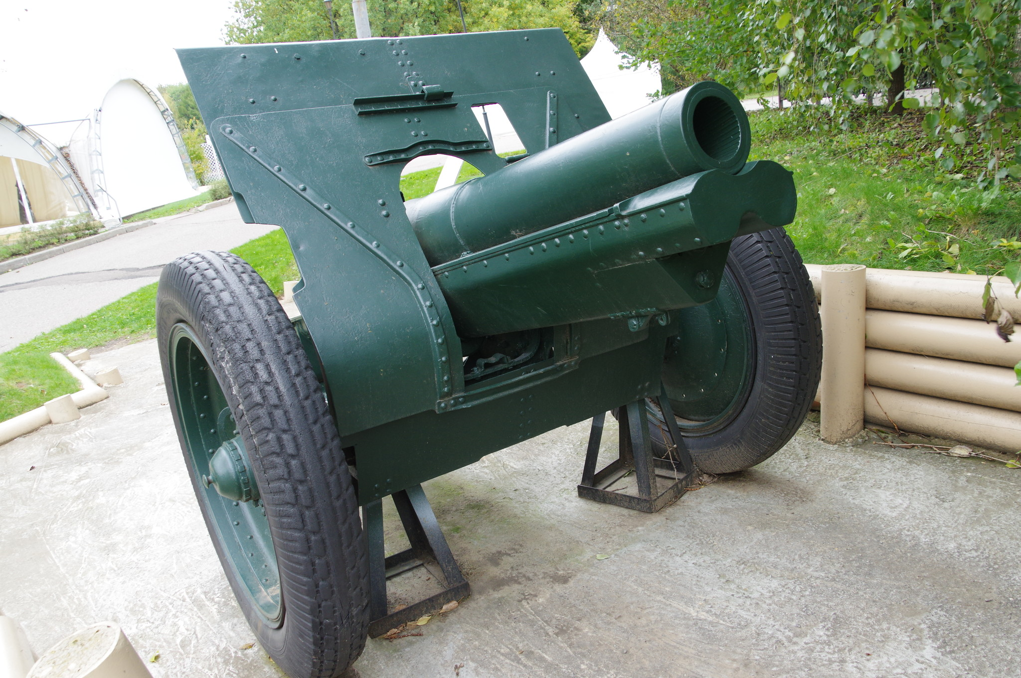 122-мм гаубица образца 1910/30 годов в экспозиции Центрального музея Великой Отечественной войны 1941-1945 гг.