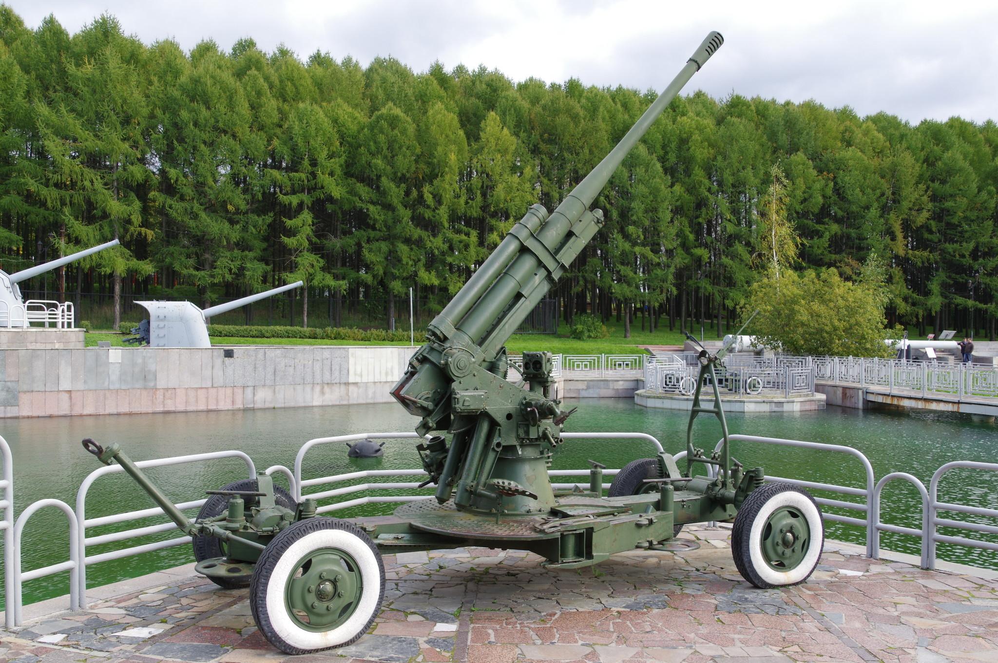 85-мм зенитная пушка образца 1939 года (52-К) в экспозиции Центрального музея Великой Отечественной войны 1941-1945 гг.