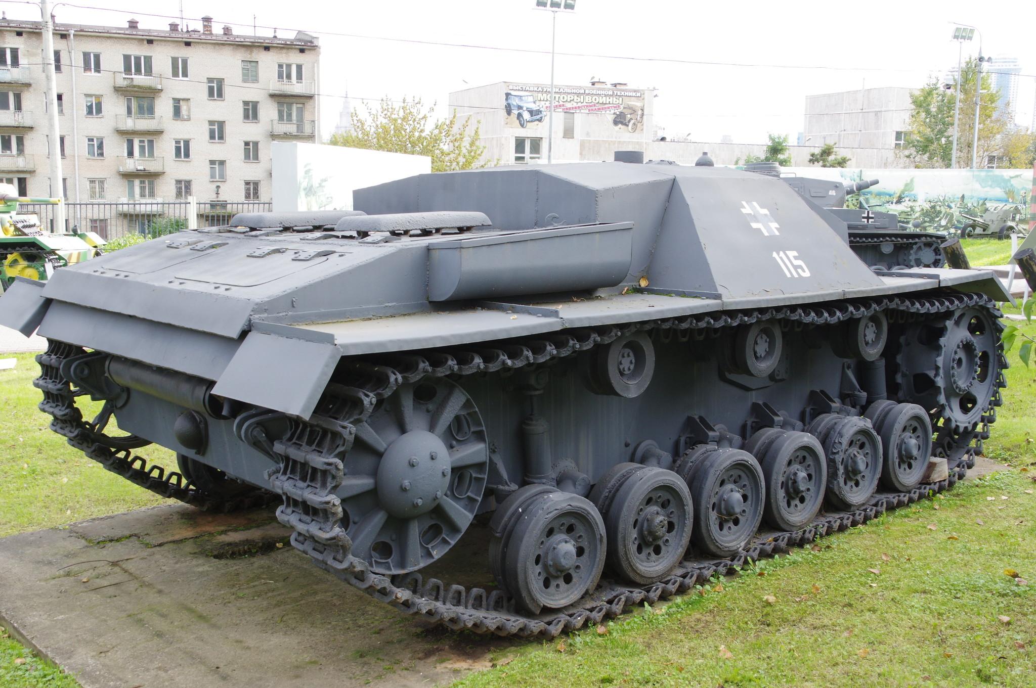 Штурмовое орудие StuG III в экспозиции Центрального музея Великой Отечественной войны 1941-1945 гг.