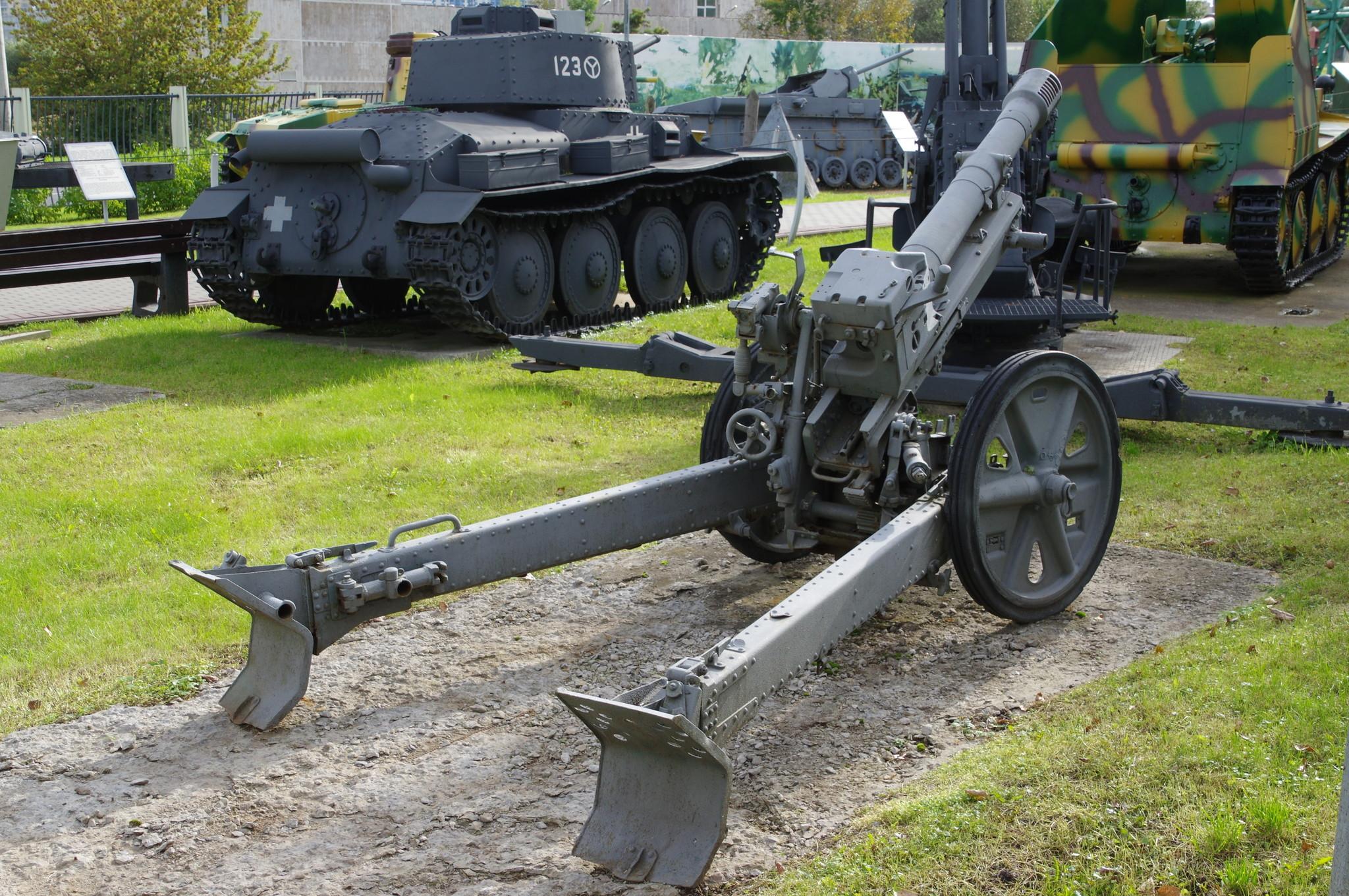 7,5 cm Gebirgsgeschütz 36 (75 мм горное орудие образца 1936 года) в экспозиции Центрального музея Великой Отечественной войны 1941-1945 гг.