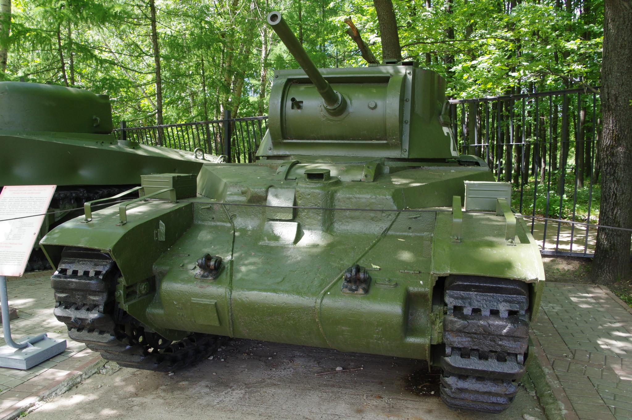 Пехотный танк «Матильда IV» в экспозиции Центрального музея Великой Отечественной войны 1941-1945 гг.