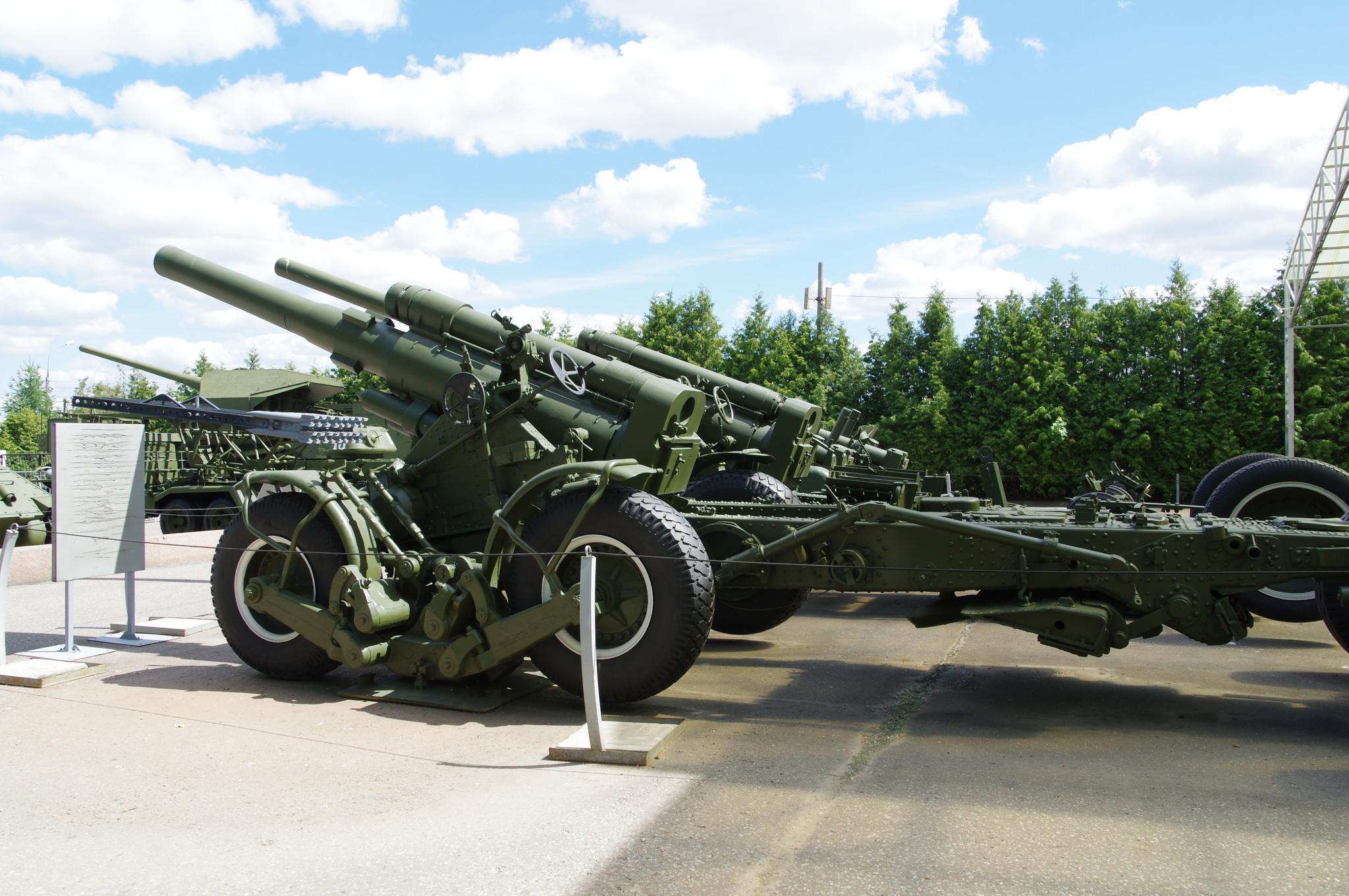 203-мм гаубица большой мощности Б-4М образца 1931 года. Центральный музей Великой Отечественной войны 1941-1945 гг.