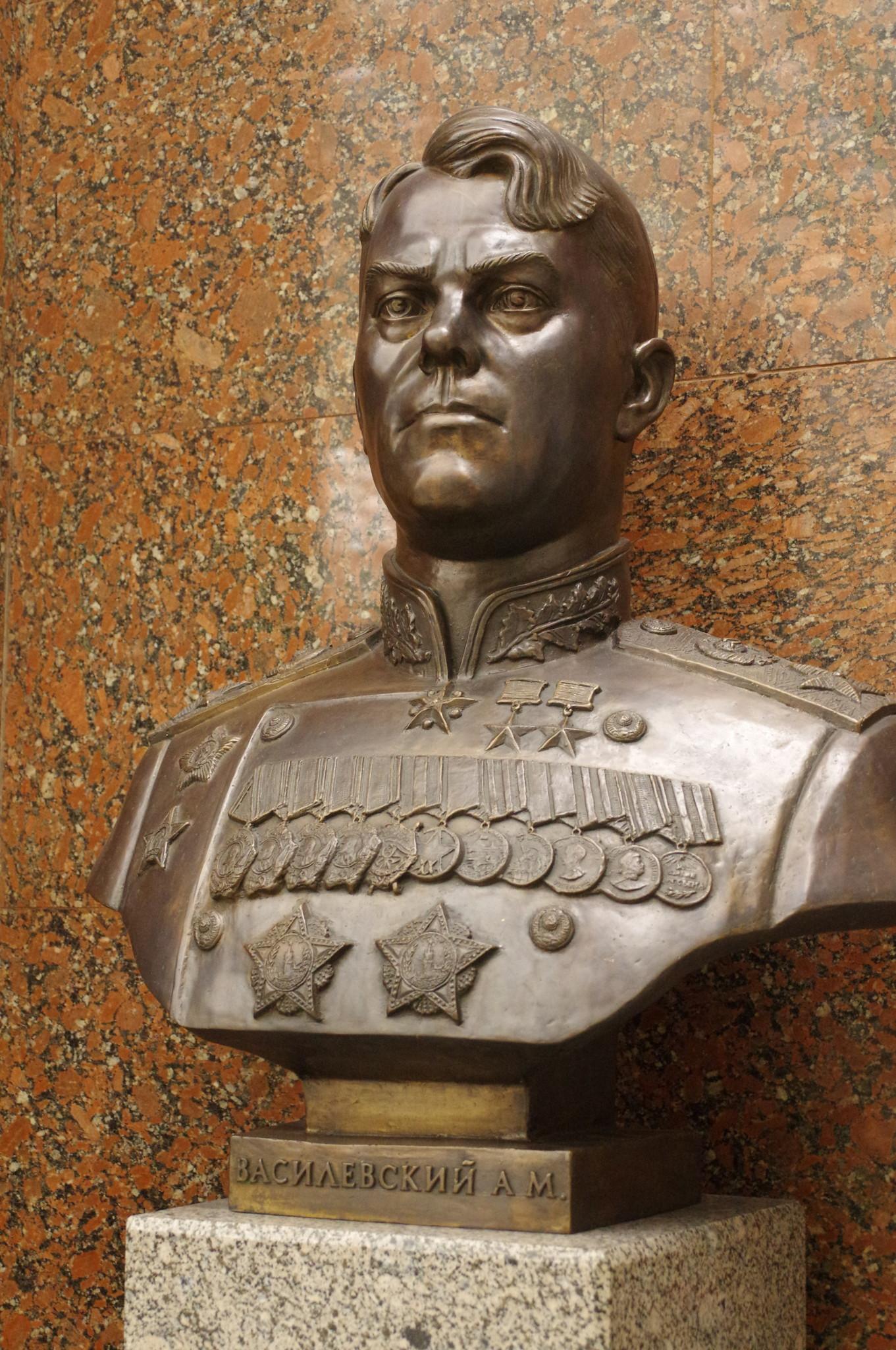 Бюст маршала Советского Союза Александра Михайловича Василевского в Центральном музее Великой Отечественной войны 1941-1945 гг.