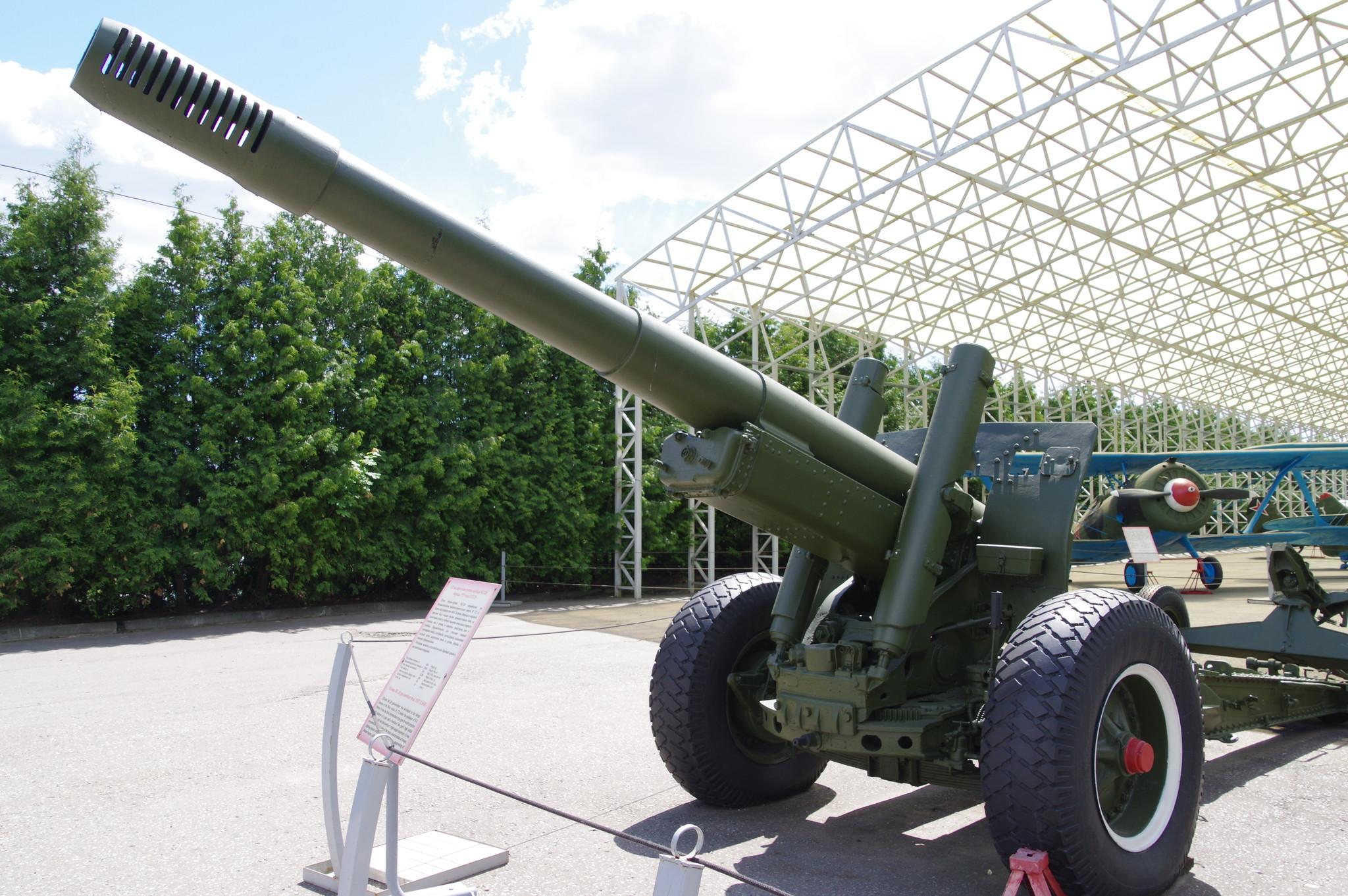 152-мм гаубица-пушка образца 1937 года (МЛ-20) в экспозиции Центрального музея Великой Отечественной войны 1941-1945 гг.