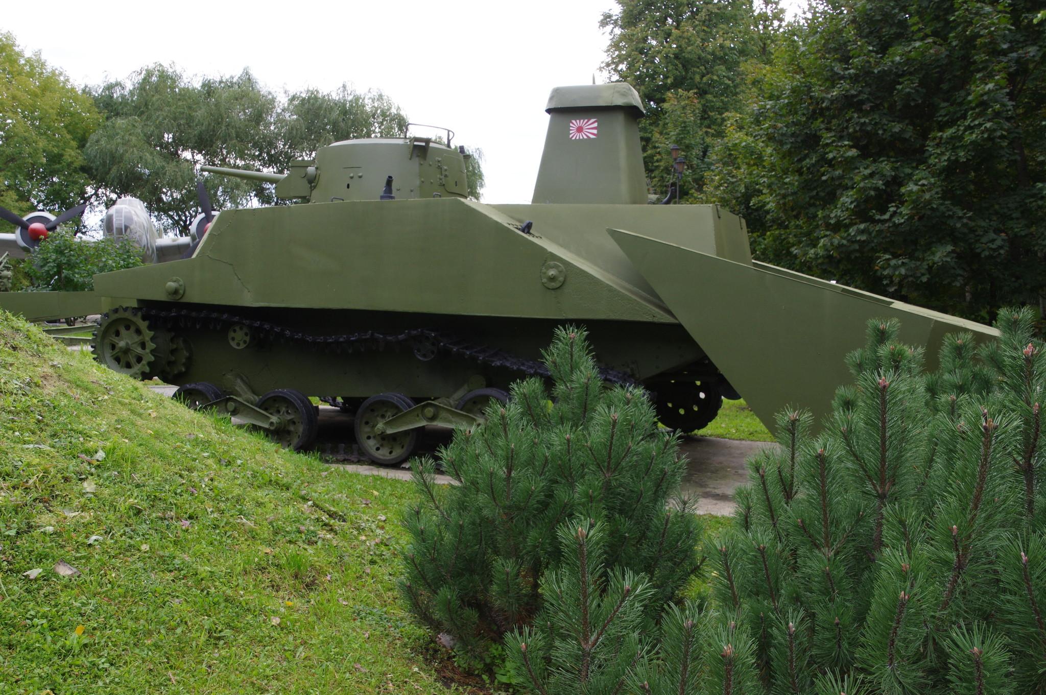 Плавающий танк «Ка-Ми» тип «2» (Япония) в Музее Победы