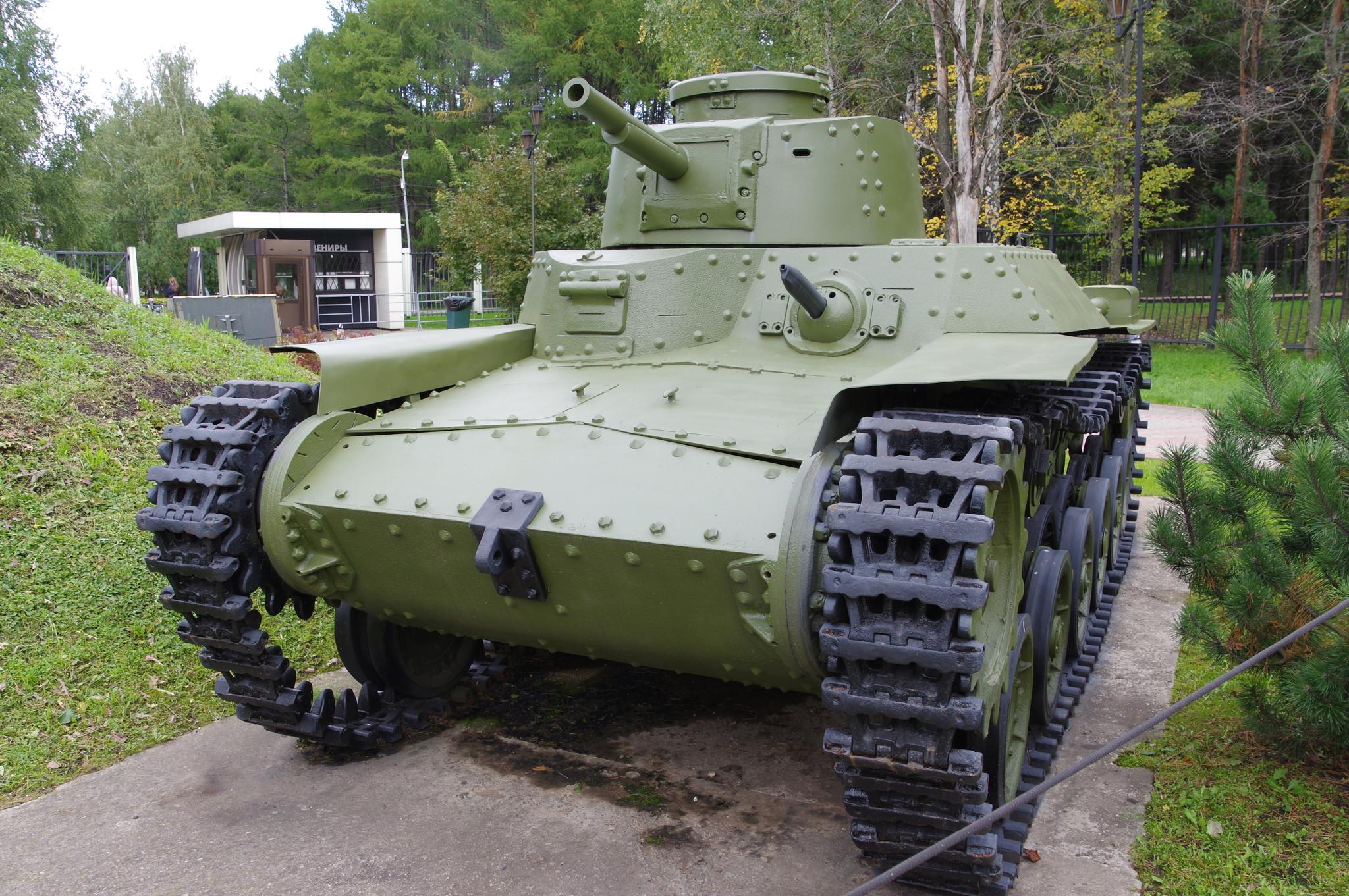 Японский средний танк Тип 97 «Чи-Ха» (макет) в экспозиции Музея Победы
