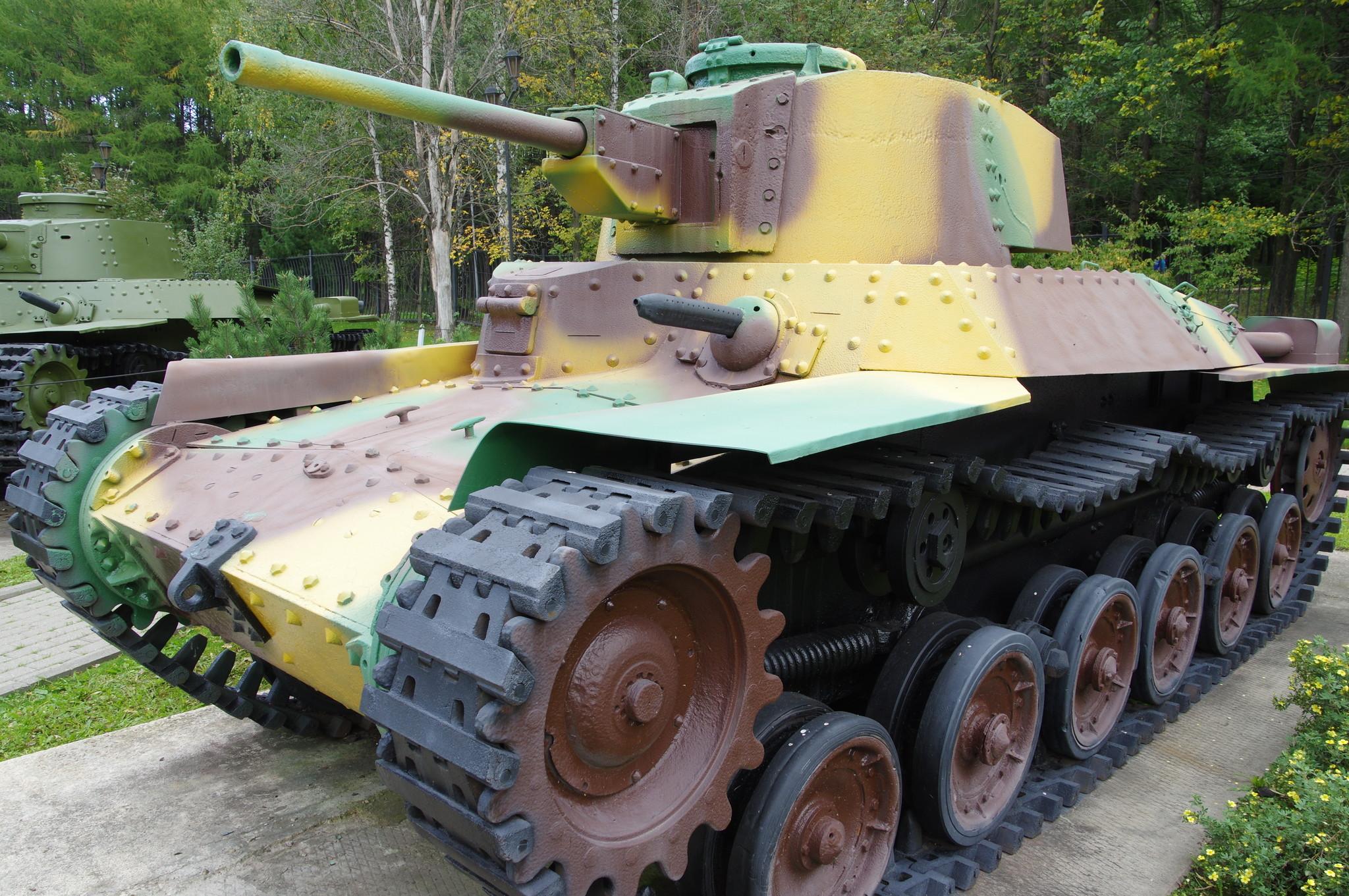 Японский средний танк «Тип 97 модификация «Шинхото» «Чи-Ха» (макет) в экспозиции Музея Победы