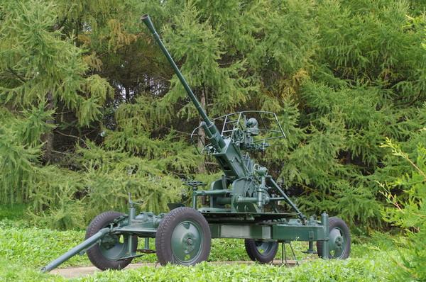 37-мм автоматическая зенитная пушка образца 1939 года (61-К) в экспозиции Центрального музея Великой Отечественной войны 1941-1945 гг.