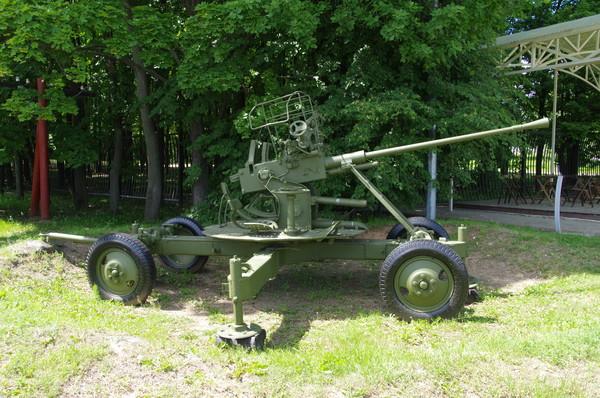 Окоп для 37-мм автоматической зенитной пушки (Центральный музей Великой Отечественной войны 1941-1945 гг.)