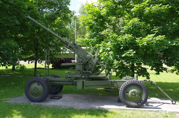 40-мм автоматическая зенитная пушка «Бофорс» вз.36 (Польша) в экспозиции Центрального музея Великой Отечественной войны 1941-1945 гг.