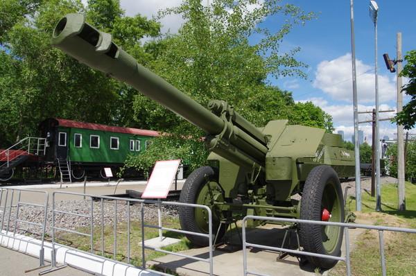 152-мм гаубица образца 1943 года (Д-1) в экспозиции Центрального музея Великой Отечественной войны 1941-1945 гг.