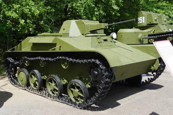 Лёгкий танк Т-60 в экспозиции Центрального музея Великой Отечественной войны 1941-1945 гг.