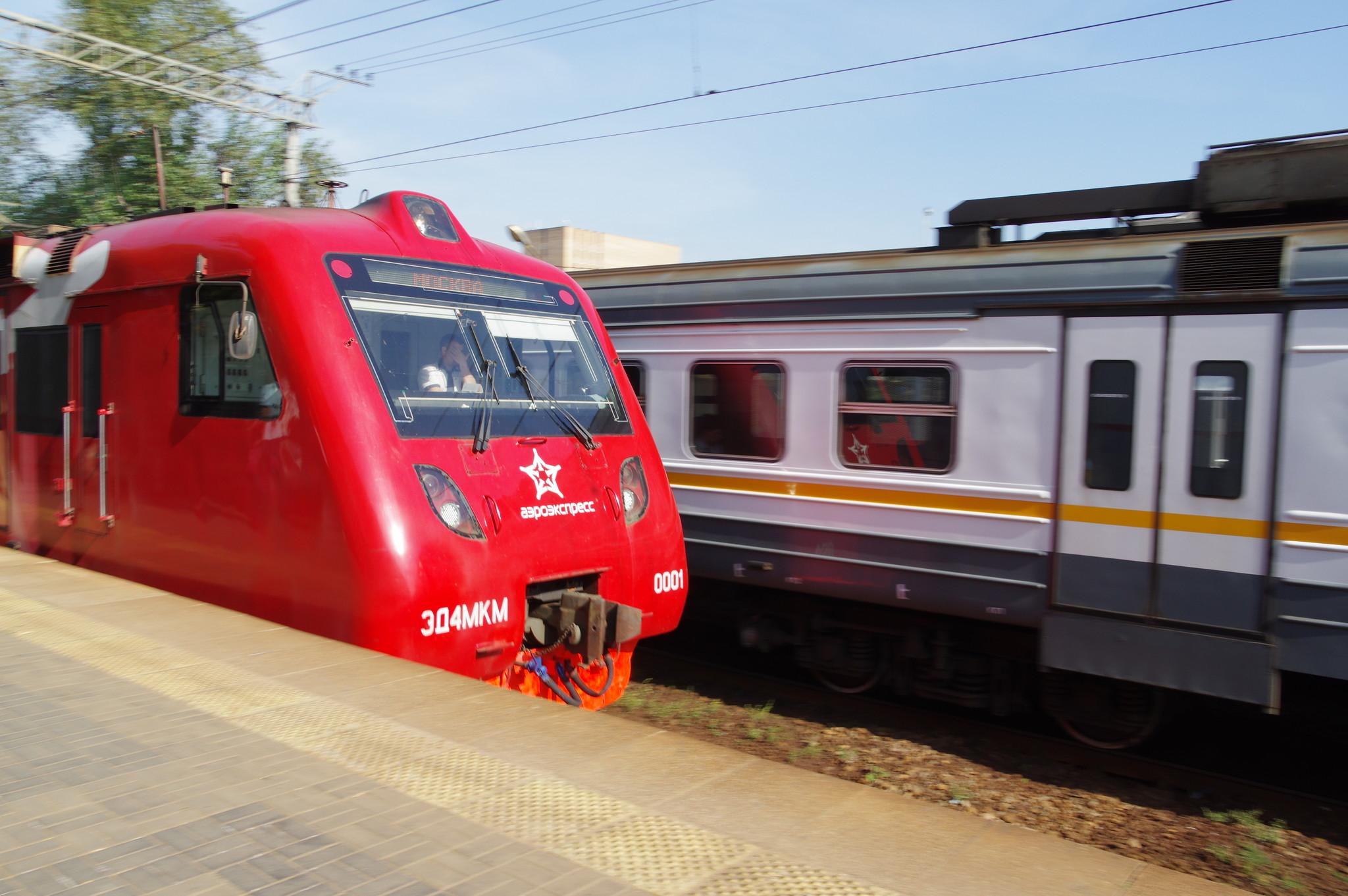 Поезд компании «Аэроэкспресс»