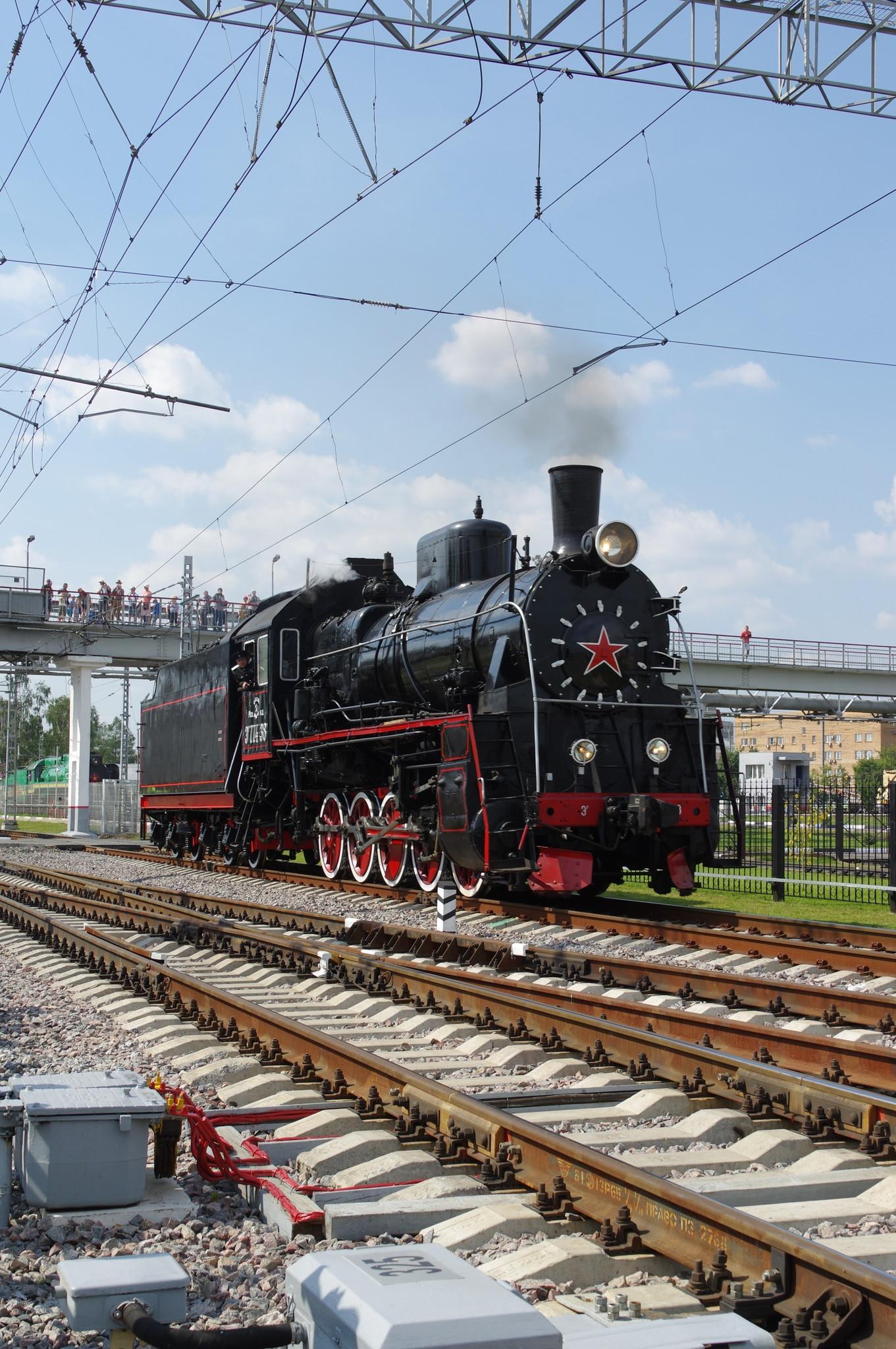 Грузовой паровоз ЭР−774-38 депо Подмосковная (г. Москва)