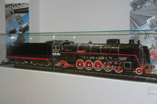 Модель паровоза ФД20-2865. Музей Московской железной дороги (улица Кожевническая, дом 2)