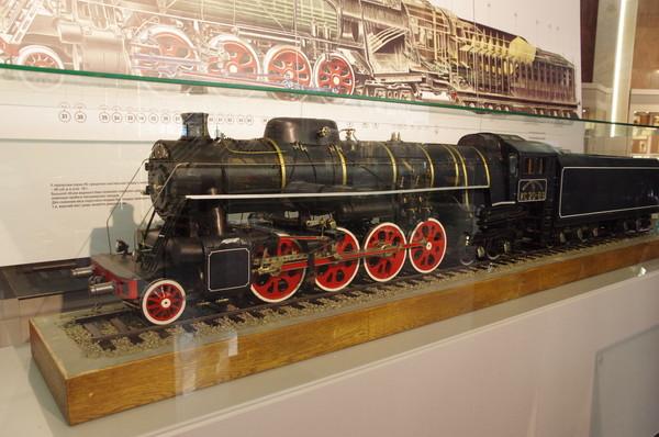 Модель паровоза ИС20-89. Музей Московской железной дороги (улица Кожевническая, дом 2)