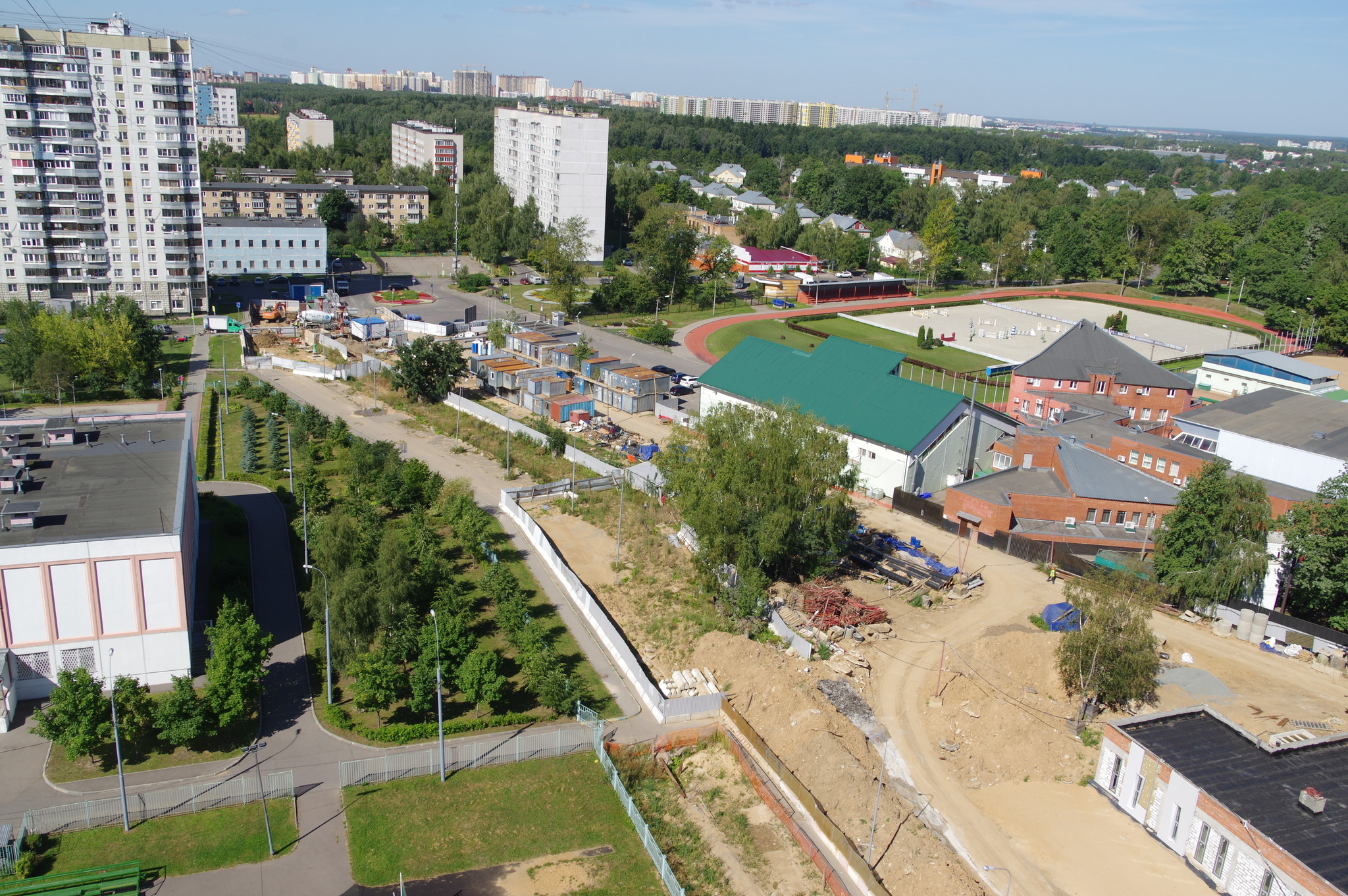 Строительство теплосети для спортивного комплекса ГБУ «Спортивная школа олимпийского резерва «Северный» (9-я Северная линия, 1б)