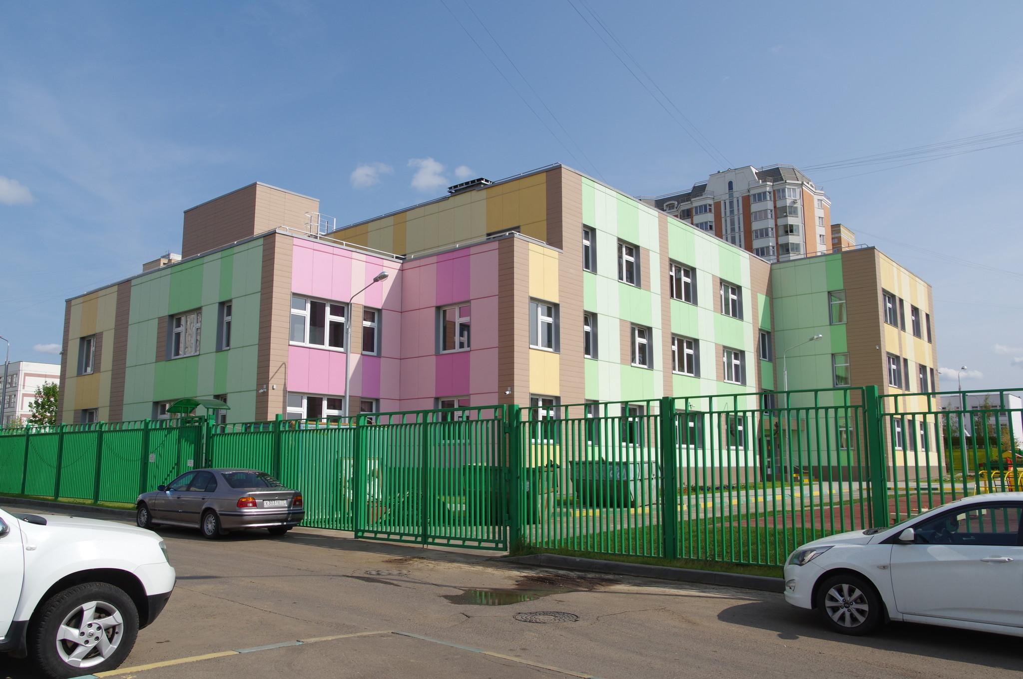 Трёхэтажное здание детского сада, на 200 детей (Дмитровское шоссе, вл. 165, корп. 5)