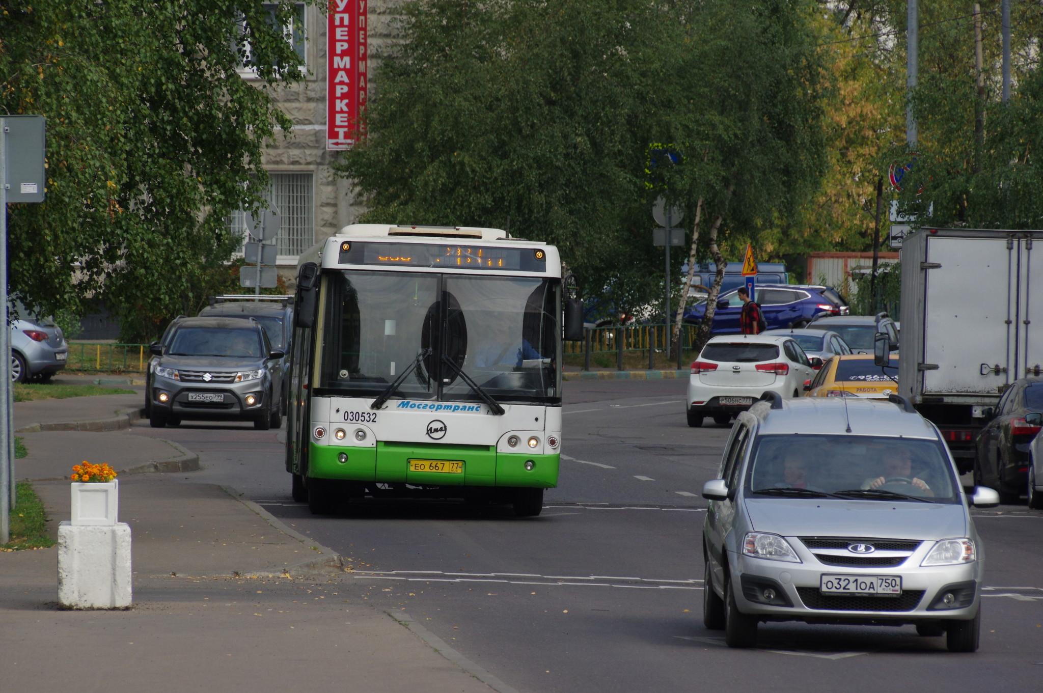 9-я Северная линия. Автобус ЛиАЗ-5292.21 № 030532 на маршруте № 836