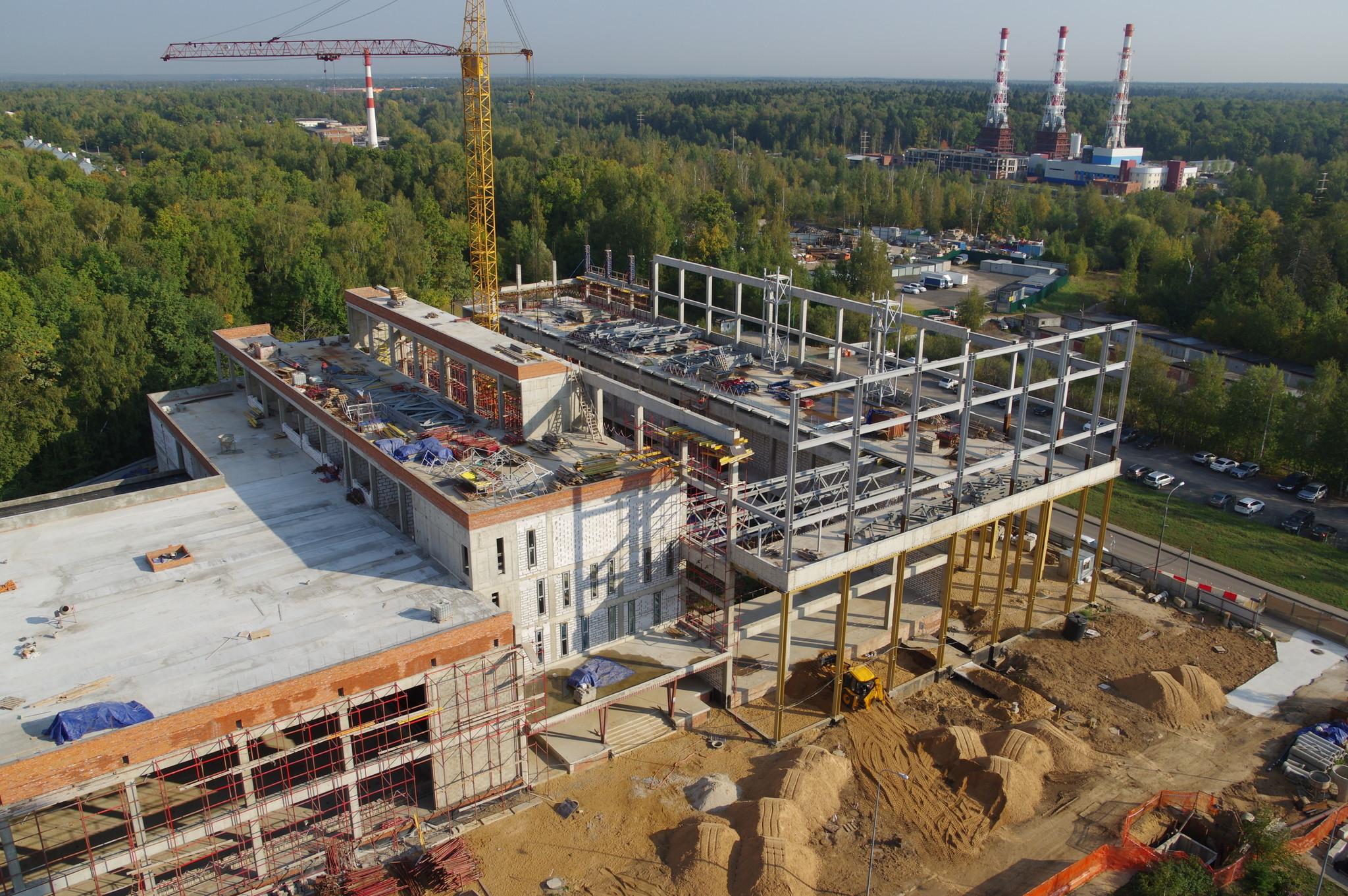 В 4-м микрорайоне возводится комплекс для ГБУ «Спортивная школа олимпийского резерва «Северный» Москомспорта»