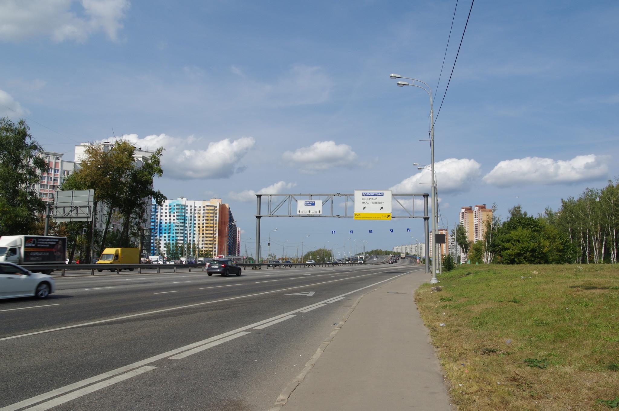 Выделенная полоса для общественного транспорта в районе Северный