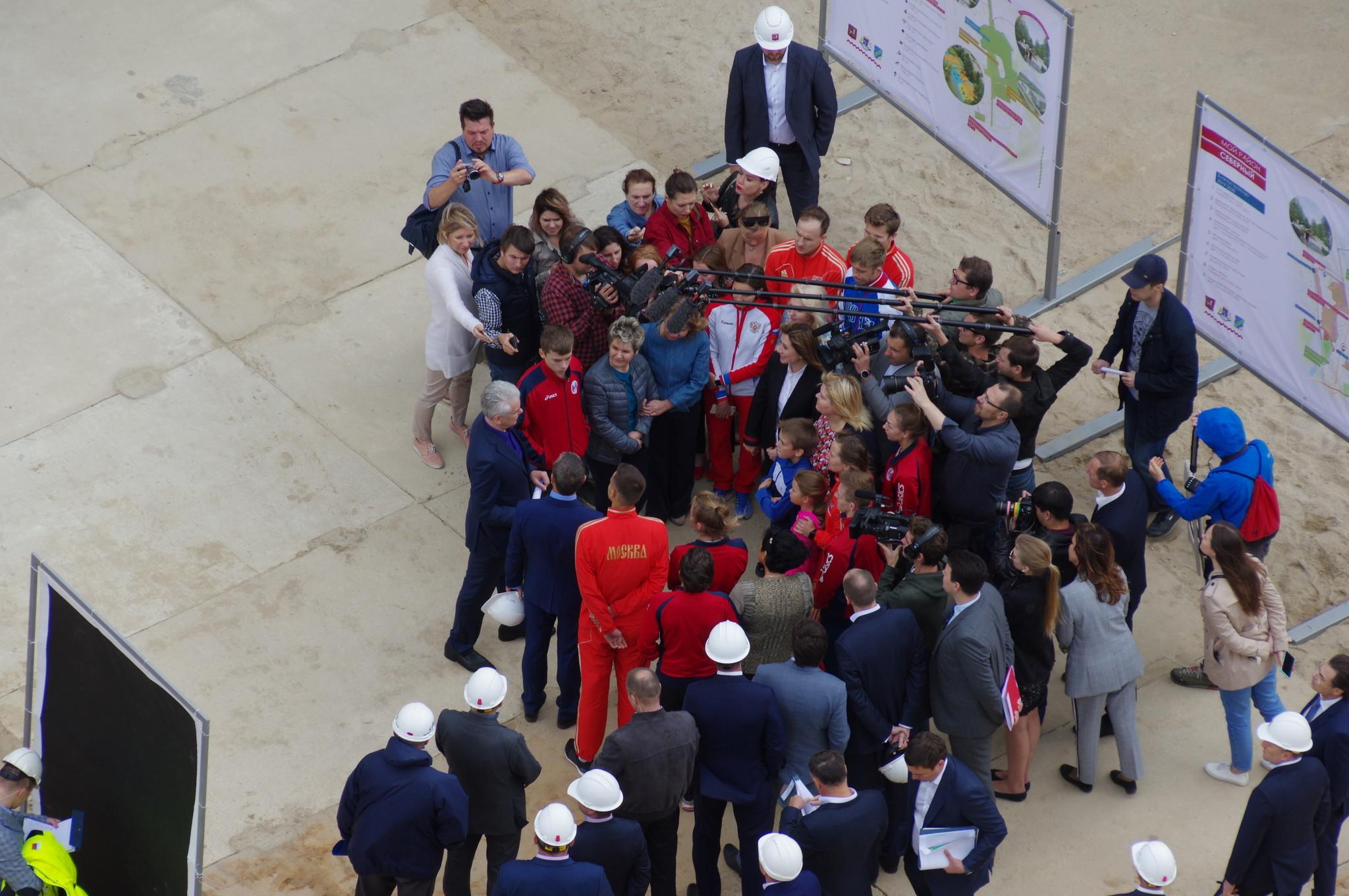 Сергей Семёнович Собянин осмотрел ход строительства спортивной школы олимпийского резерва «Северный»