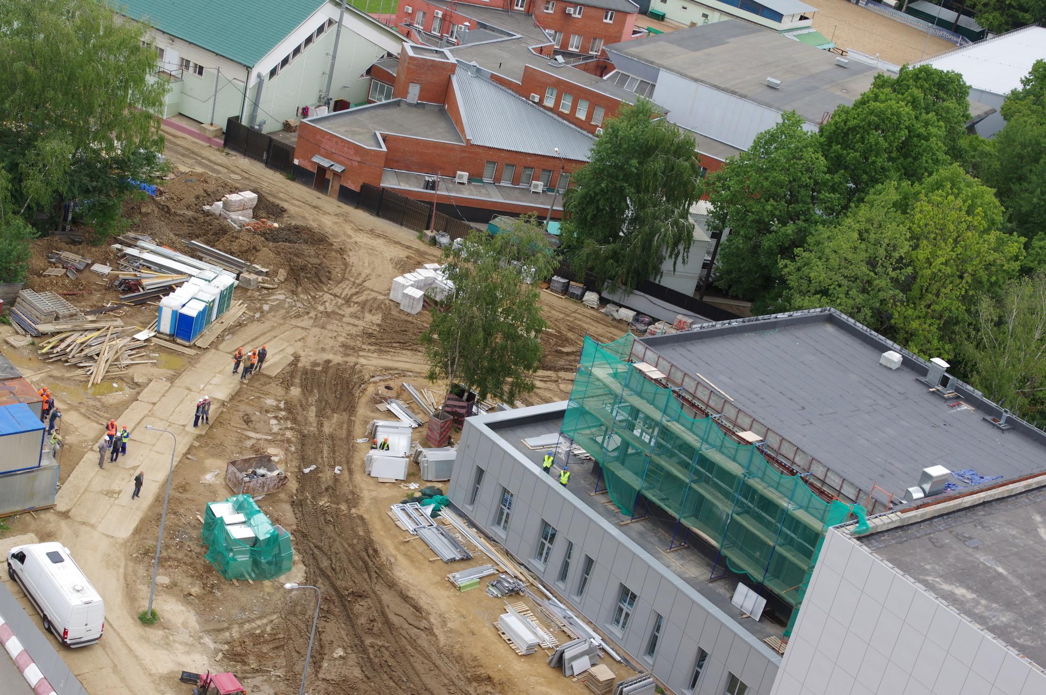 В 4-м микрорайоне Северного возводится комплекс для ГБУ «Спортивная школа олимпийского резерва «Северный» Москомспорта»
