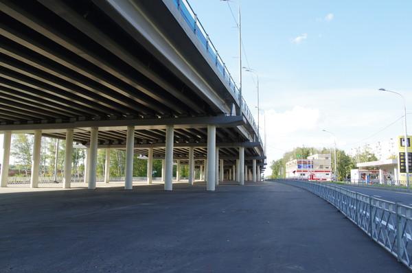 Эстакада на Дмитровском шоссе в районе Северный