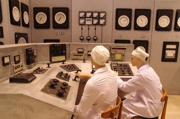 Пульт управления первыми промышленными ядерными реакторами (инсталляция)