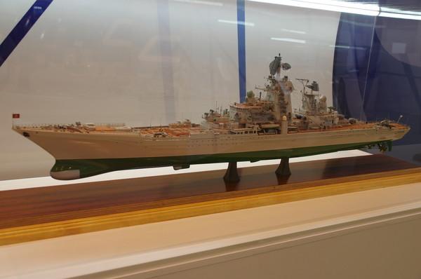 Модель тяжёлого атомного ракетного крейсера проекта 1144 «Киров». Из собрания Центрального военно-морского музея г. Санкт-Петербург