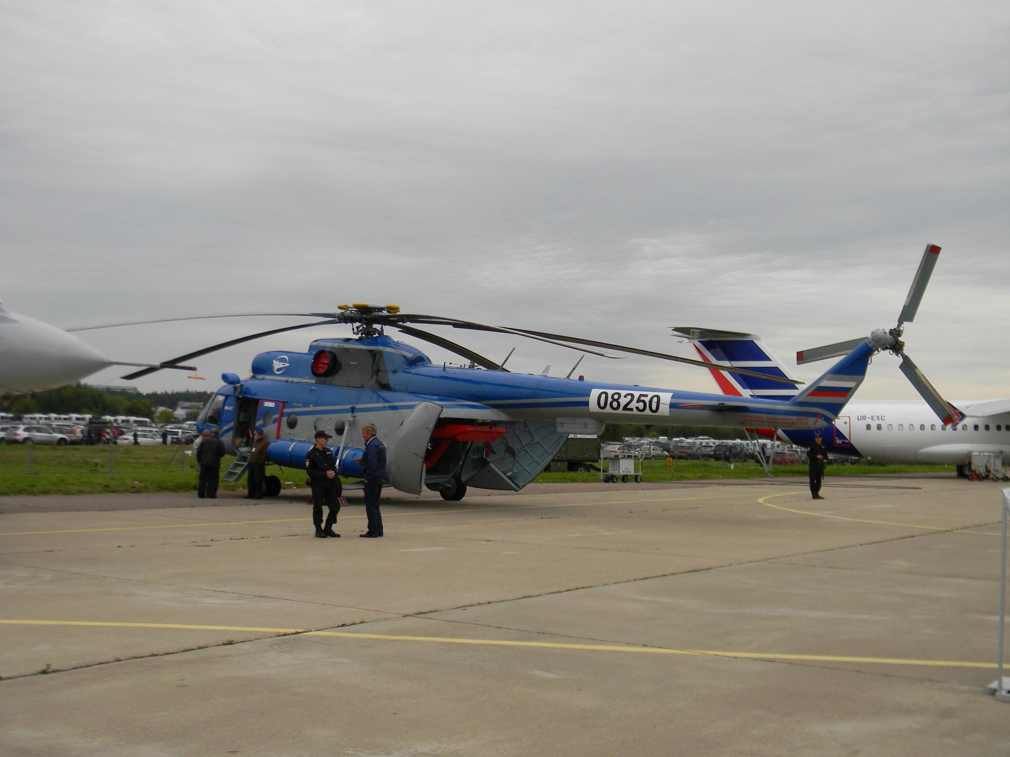 Летающая лаборатория Ми-8Т модель-демонстратор системы выливной авиационной универсальной (СВАУ) ЛИИ «Компакт»